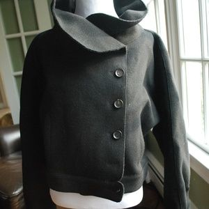 Carolina Herrera Structured Wool Felt Black Jacket